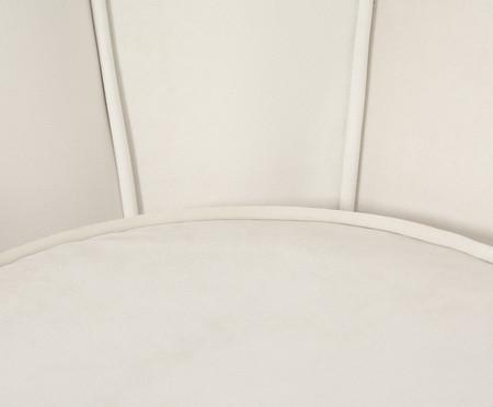Poltrona em Veludo Pétala - Off White | WestwingNow