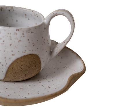 Jogo de Xícaras para Chá em Cerâmica Parker - Bege | WestwingNow
