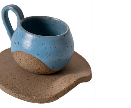 Jogo de Xícaras para Café em Cerâmica Ross - Azul   WestwingNow