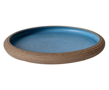 Jogo de Pratos Rasos em Cerâmica James - Azul   WestwingNow