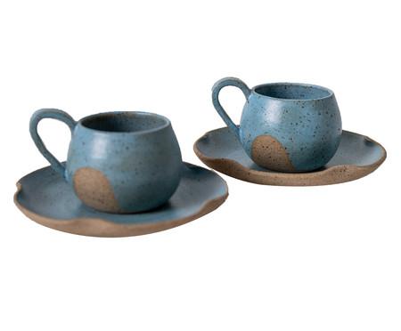 Jogo de Xícaras para Chá em Cerâmica Parker - Azul | WestwingNow