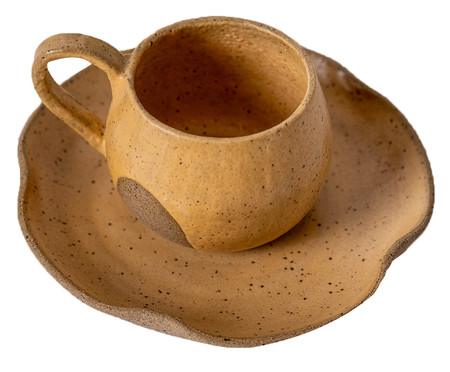 Jogo de Xícaras para Chá em Cerâmica Parker - Amarelo | WestwingNow
