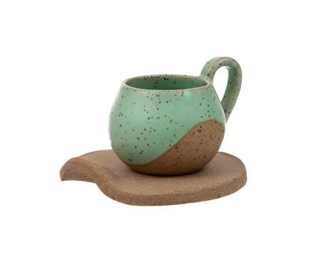 Jogo de Xícaras para Café em Cerâmica Ross - Verde | WestwingNow