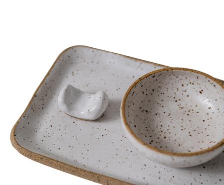 Jogo para Sushi em Cerâmica Tina - Branco   WestwingNow