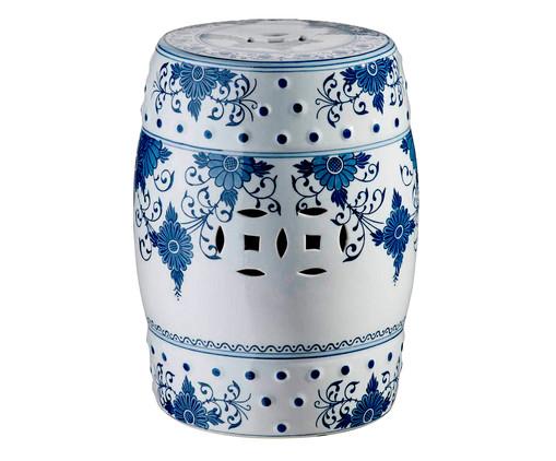 Garden Seat Mira - Branco e azul, Branco, Azul | WestwingNow