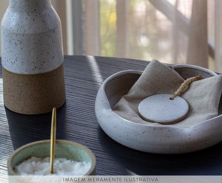 Porta Guardanapo em Cerâmica Elizabeth - Branco | WestwingNow