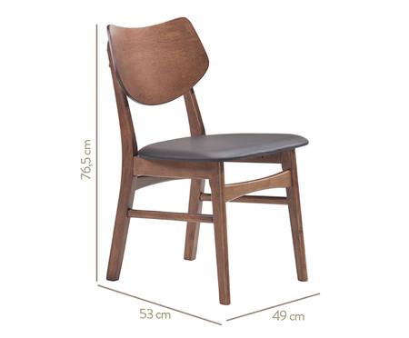 Cadeira em Madeira Edna - Preta e Nogueira | WestwingNow