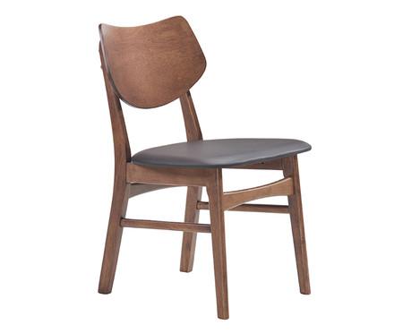 Cadeira em Madeira Edna - Preta e Nogueira   WestwingNow