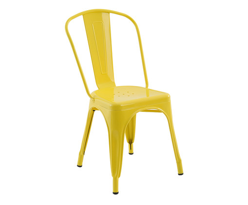 Cadeira de Aço Iron - Amarela, Amarelo, Colorido | WestwingNow