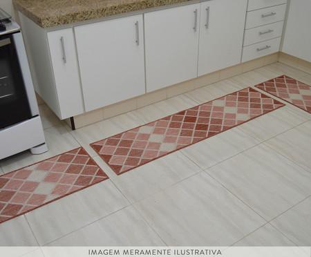 Jogo de Tapetes para Cozinha Look Jacquard Vesuvio - Terracota | WestwingNow