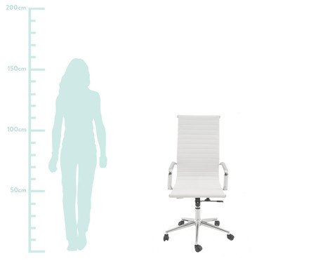 Cadeira de Escritório com Rodízio Abigail - Branca | WestwingNow