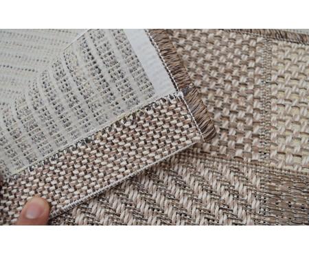 Capacho Look Jacquard Mosaico - Marrom e Bege | WestwingNow