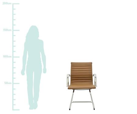 Cadeira de Escritório com Braços Glove Baixa - Caramelo | WestwingNow