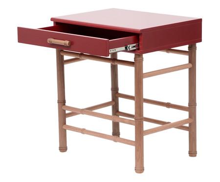 Mesa de Cabeceira Hurassí - Vermelho | WestwingNow