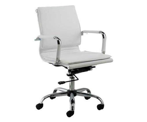 Cadeira de Escritório Valencia - Branca, Branco, Prata / Metálico | WestwingNow