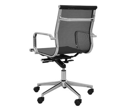 Cadeira de Escritório com Rodízios Smooth Baixa - Preta | WestwingNow