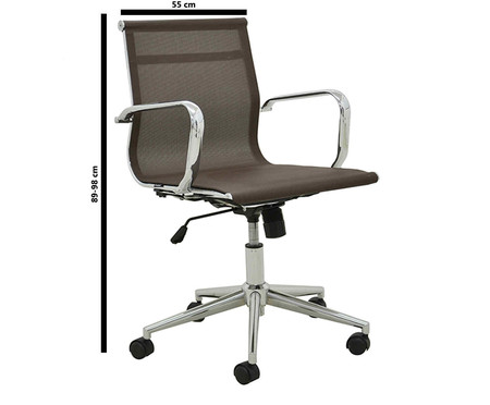Cadeira de Escritório com Rodízios Smooth - Café | WestwingNow