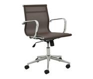 Cadeira de Escritório com Rodízios Smooth Baixa - Café | WestwingNow