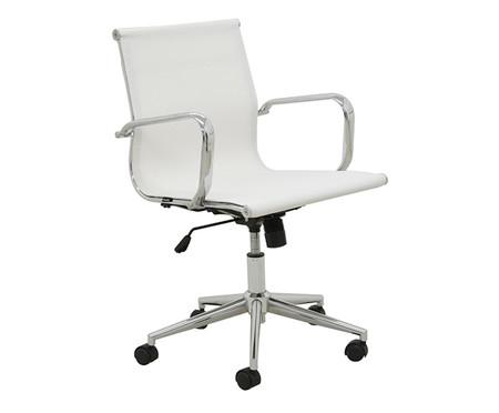 Cadeira Oficce com Rodízios Fox - Branca | WestwingNow