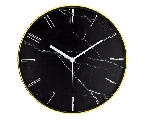 Relógio de Parede Marmorizado - Preto, Preto   WestwingNow