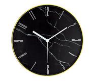 Relógio de Parede Marmorizado - Preto | WestwingNow