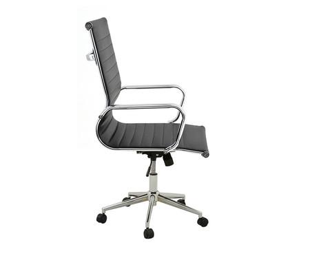 Cadeira de Escritório com Rodízios Glove Baixa - Preta | WestwingNow