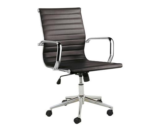 Cadeira de Escritório com Rodízios Glove Baixa - Preta, Preto, Prata / Metálico | WestwingNow