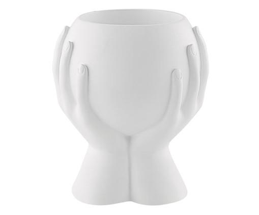 Cachepot Mãos - Branco, Branco | WestwingNow