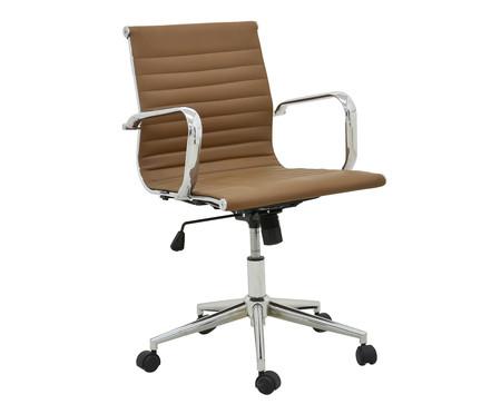 Cadeira de Escritório com Rodízios Glove Baixa - Caramelo | WestwingNow