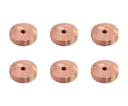Jogo de Anéis de Cedro Any - Natural | WestwingNow