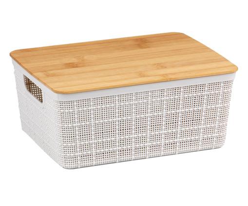 Caixa Organizadora em Bambu Lorio Branca - 4L, Branco   WestwingNow