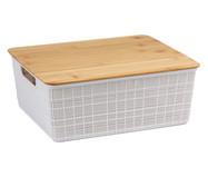 Caixa Organizadora Bambu Lorio Branca - 7L | WestwingNow