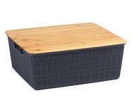 Caixa Organizadora Bambu Rugh Cinza - 7L | WestwingNow