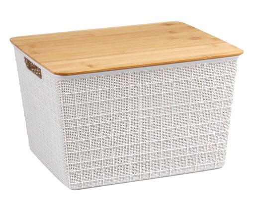 Caixa Organizadora Bambu Lorio Branca - 12L, Branco | WestwingNow