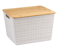 Caixa Organizadora Bambu Lorio Branca - 12L | WestwingNow