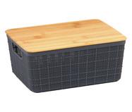 Caixa Organizadora Bambu Rugh Cinza - 4L | WestwingNow