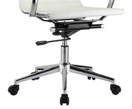 Cadeira de Escritório com Rodízios Glove Alta - Branca | WestwingNow