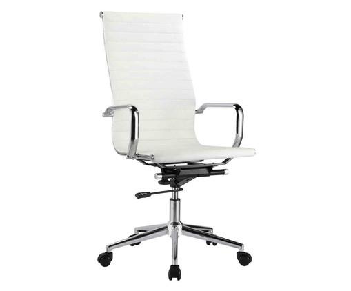 Cadeira de Escritório com Rodízios Glove Alta - Branca, Branco, Colorido | WestwingNow