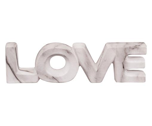 Adorno Love em Cerâmica Mármore, Branco | WestwingNow