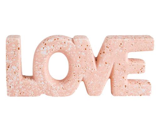Adorno Love em Cerâmica Mármore - Rosa, Rosa | WestwingNow