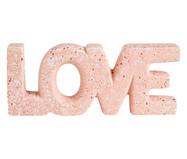 Adorno Love em Cerâmica Mármore - Rosa | WestwingNow