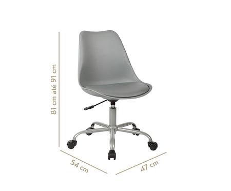 Cadeira de Escritório com Rodízios Lucinda - Cinza | WestwingNow