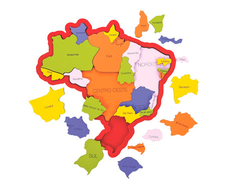 Jogo Mapa do Brasil | WestwingNow