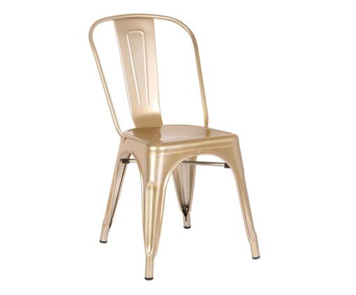 Cadeira de Aço Iron - Dourado, Dourado | WestwingNow