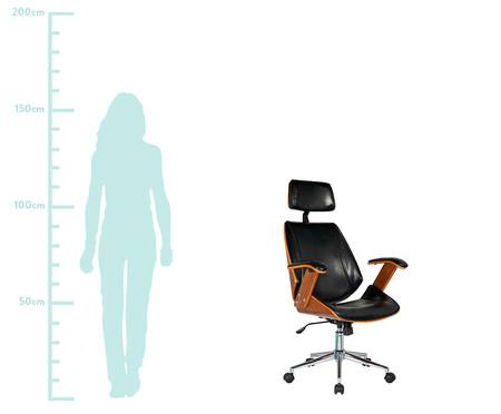 Cadeira de Escritório com Rodízio Orletti - Preto | WestwingNow