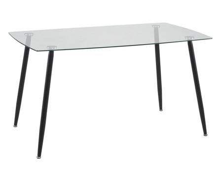 Mesa de Jantar em Vidro Eli Retangular - Transparente | WestwingNow