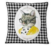 Capa de Almofada em Veludo com Vivo Cat | WestwingNow