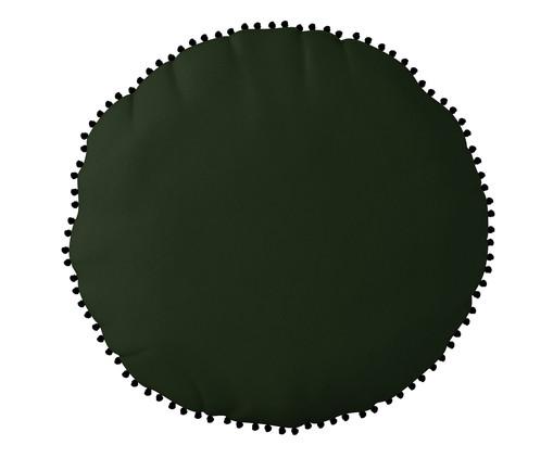 Almofada Redonda em Veludo com Griló Davi ll Verde - 40cm, Verde | WestwingNow