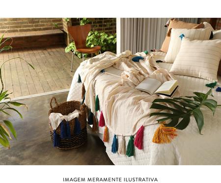 Manta para Sofá com Tassel Luna - Preta e Rubi | WestwingNow