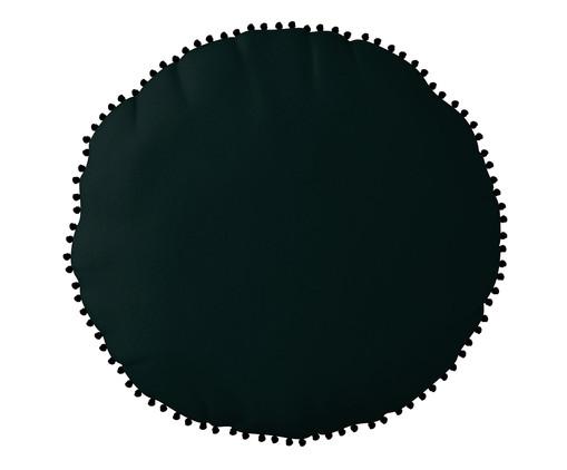 Almofada Redonda em Veludo com Griló Davi - 40cm, verde | WestwingNow